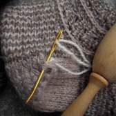 Как заштопать шерстяные носки