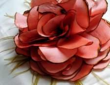 Цветы из ткани: делаем сами