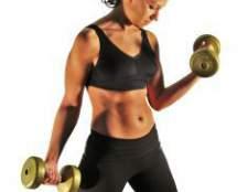 Как накачать мышцы гантелями