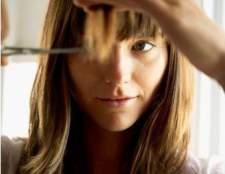 Как подстричь прямую челку